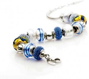 Beads bransoletka niebieska